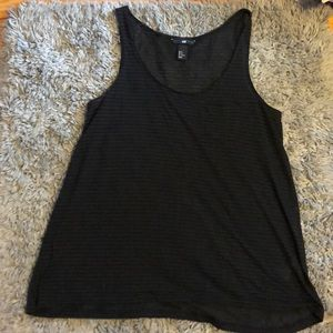 H&M striped pocketed tank top